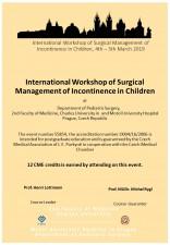 Mezinárodní worshop chirurgického řešení močové inkontinence u dětí