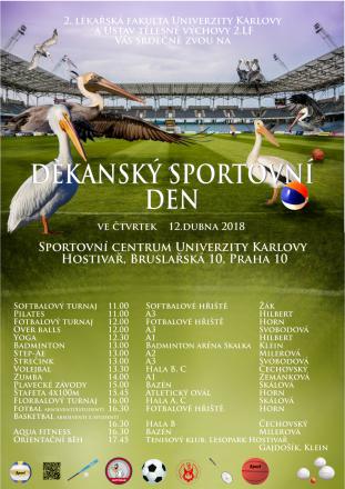 Děkanský sportovní den 12. dubna 2018